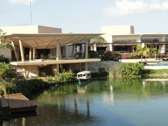 One of the canals of Rosewood Mayakoba