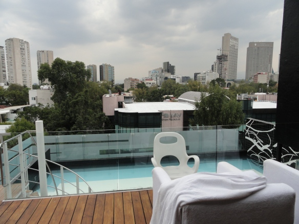 Fifth Floor Terrace at Habita Hotel, Mexico City