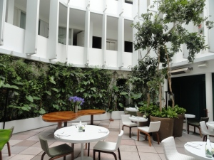 Interior courtyard at Condesa df in Mexico City