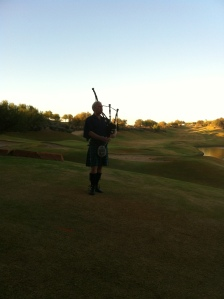 Bagpipes at sundown at the Westin Kierland Resort