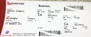 Qantas boarding pass