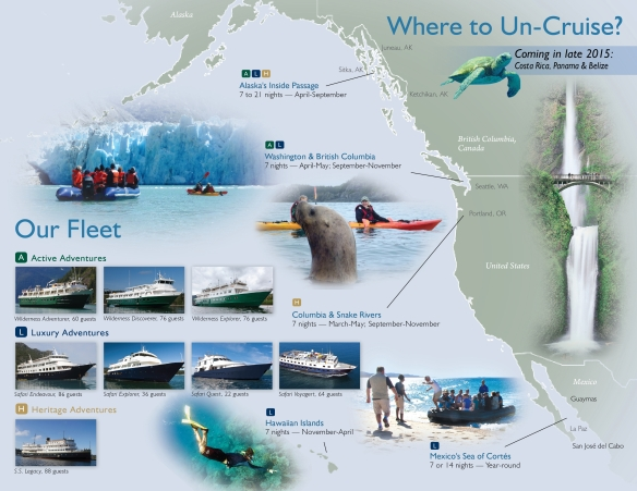 Un-Cruise Adventures Destinations