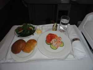 Meal service on Emirates