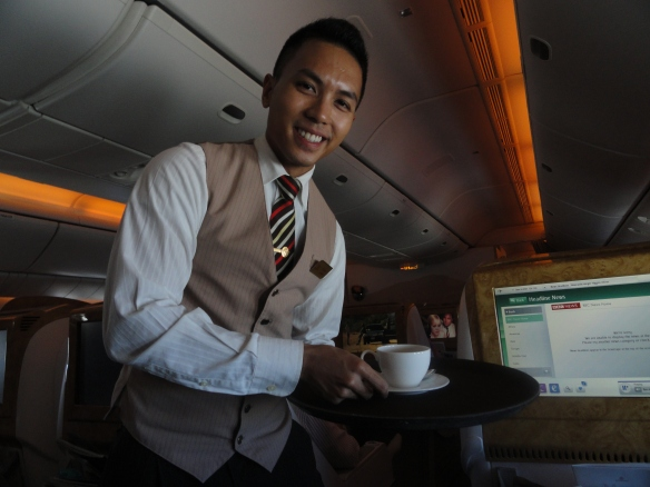 Flight attendent on Emirates