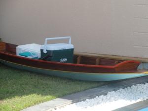 Beverage boat at the Anantara