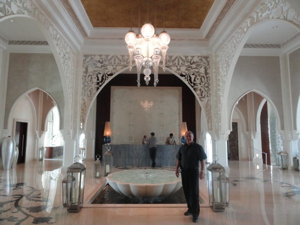 The lobby of the One&Only The Palm, Dubai