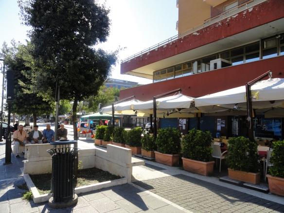 Sidewalk cafe in Ladispoli, Italy