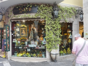 Taormina, Italy shop window