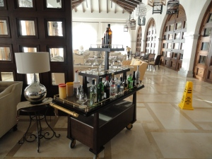 Martini Cart at Secrets Puerto Los Cabos