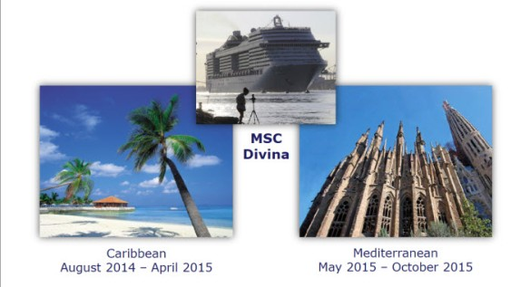 MSC Divina Itineraries