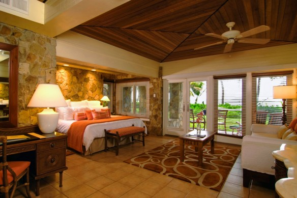 Beachfront Junior Suites bedroom