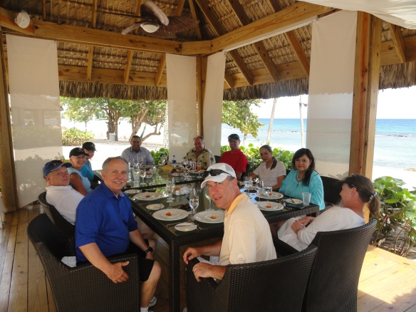 Lunch on the beach at Casa De Campo