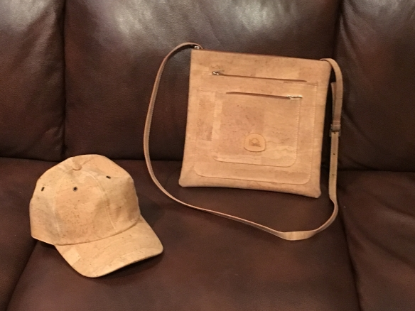 Cork cap and purse from Portugal